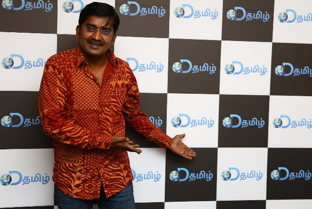 Actor Karunakaran at the DTamil press meet in Chennai
