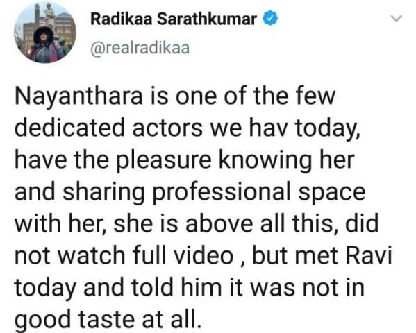radharavi-nayanthara-crisis-radhika-tweets