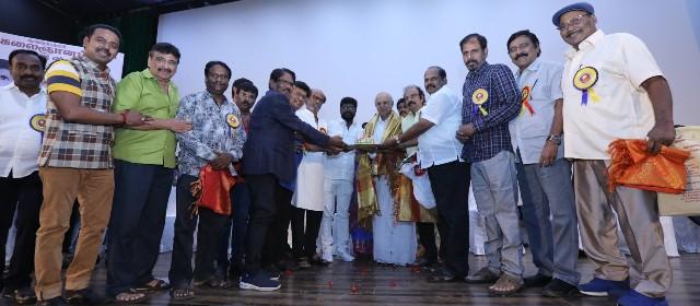 Felicitation Function Photos Of Legendary Writer Kalaignanam (77)